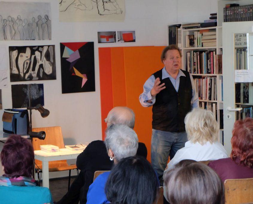 Gerhard Polacek, Lesung am Tag der offenen Tür