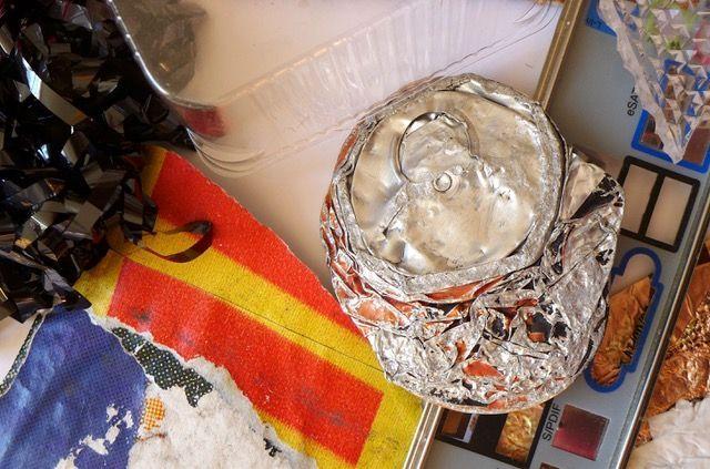 Bilder und Objekte aus Fundstücken, Workshop mit Maria Sacchiatelli