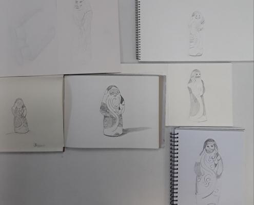 Zeichnen, Dauerkurs, gegenständliche und freie Malerei, Angelika Hentschel, 2019