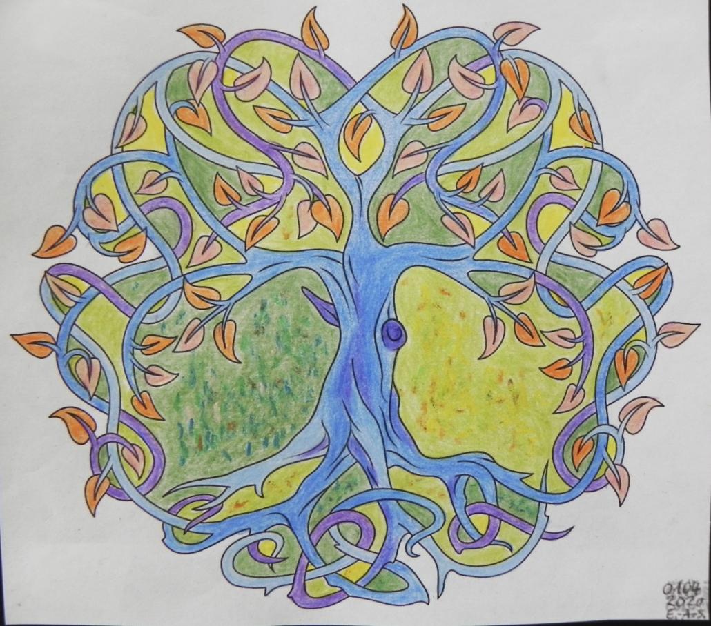 Mandala von Alexa Schwarz (Kurs Angelika Hentschel)