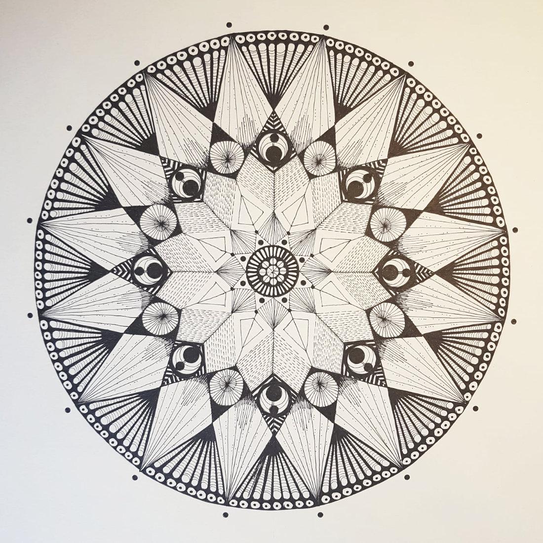 Mandala von Claudia Schwertfeger (Kurs Angelika Hentschel)