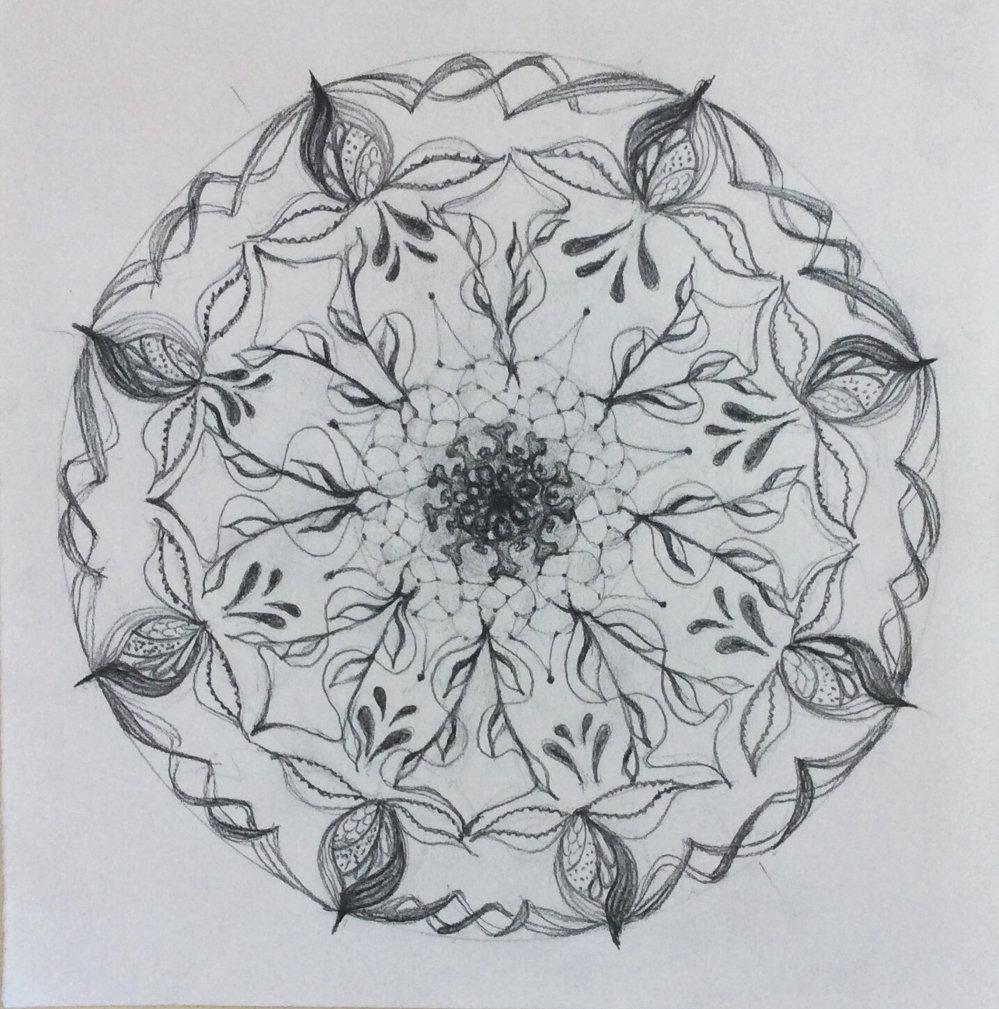 Mandala von Elli Suritsch (Kurs Angelika Hentschel)