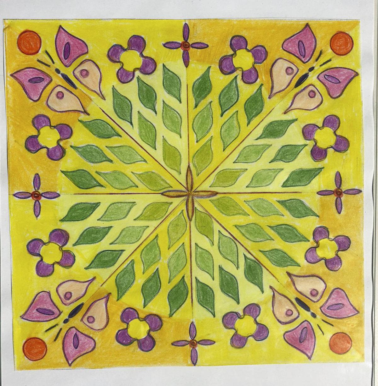 Mandala von Geli Heinze (Kurs Angelika Hentschel)