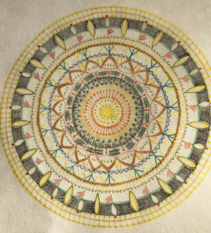 Mandala von Kerstin Merle (Kurs Angelika Hentschel)