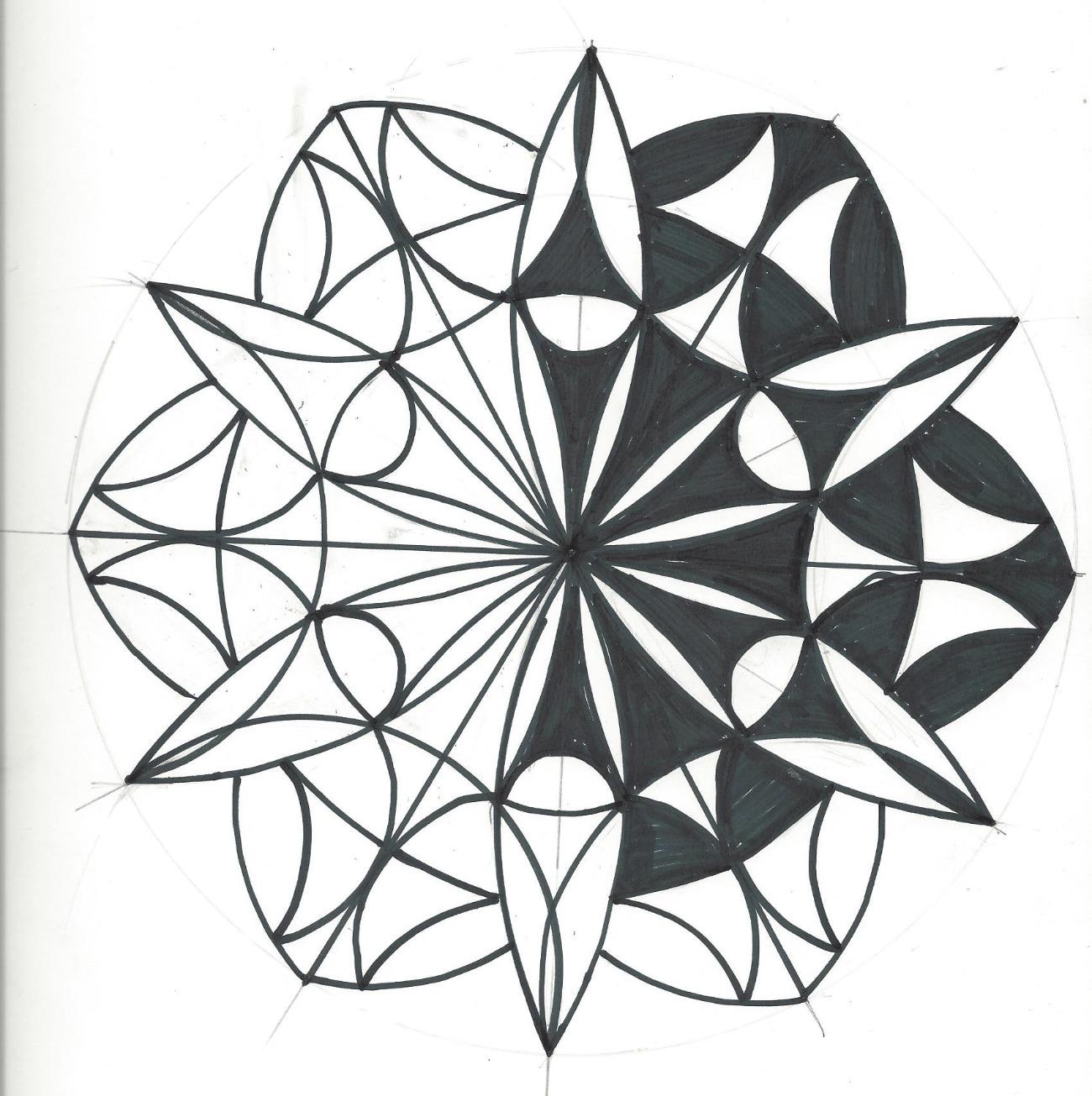 Mandala von Mäggi Braun (Kurs Angelika Hentschel)
