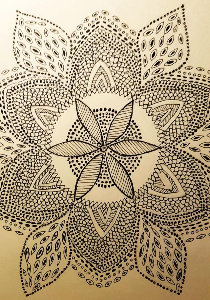 Mandala von Margitte Fink (Kurs Angelika Hentschel)