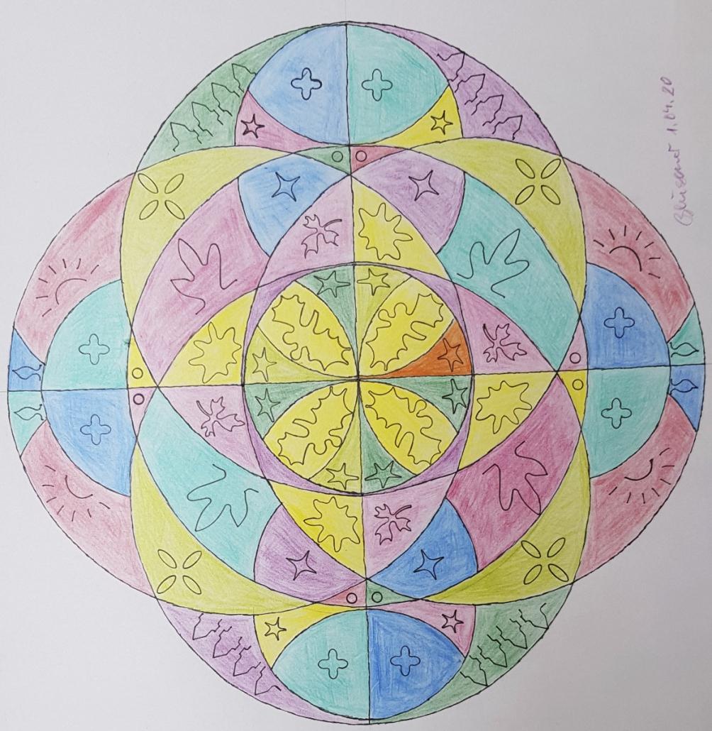 Mandala von Rüdiger Bliesener (Kurs Angelika Hentschel)