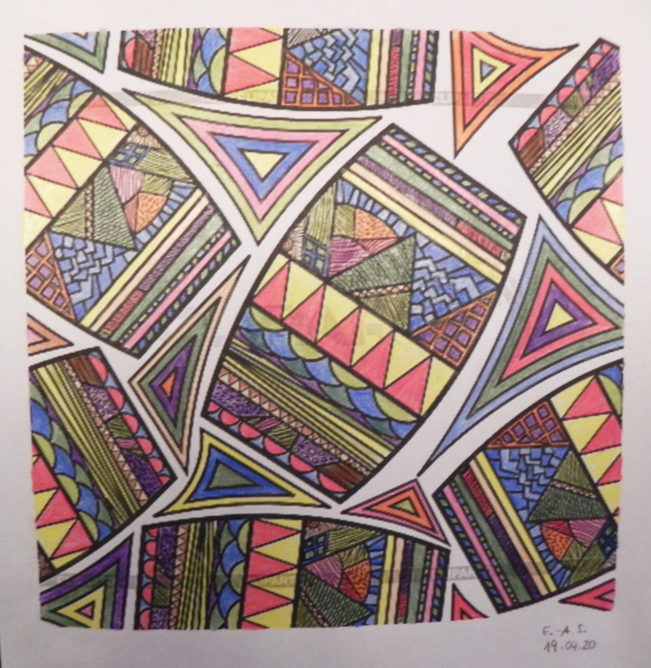 Zentangle von Alexa Schwarz (Kurs Angelika Hentschel)