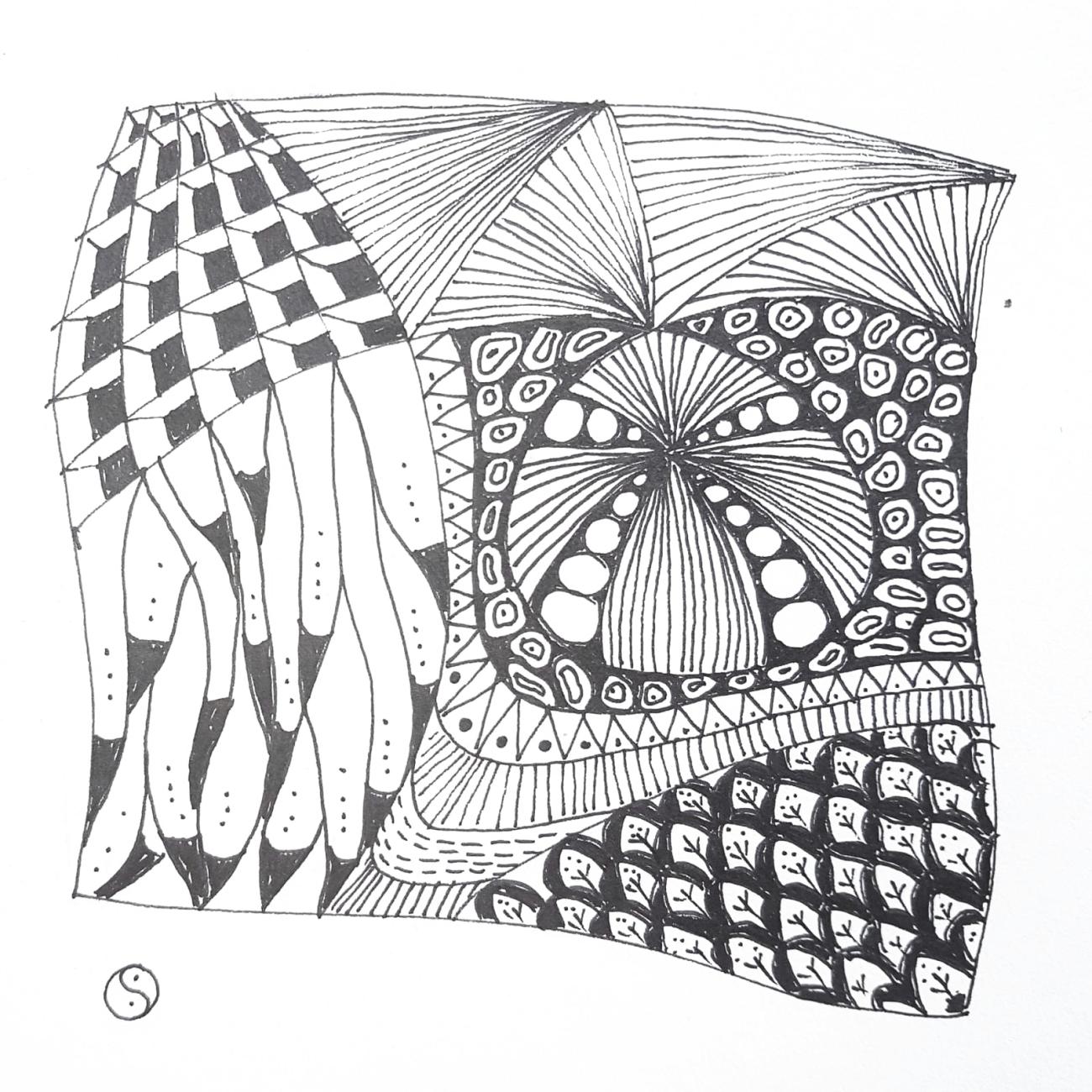Zentangle von Claudia Schwertfeger (Kurs Angelika Hentschel)