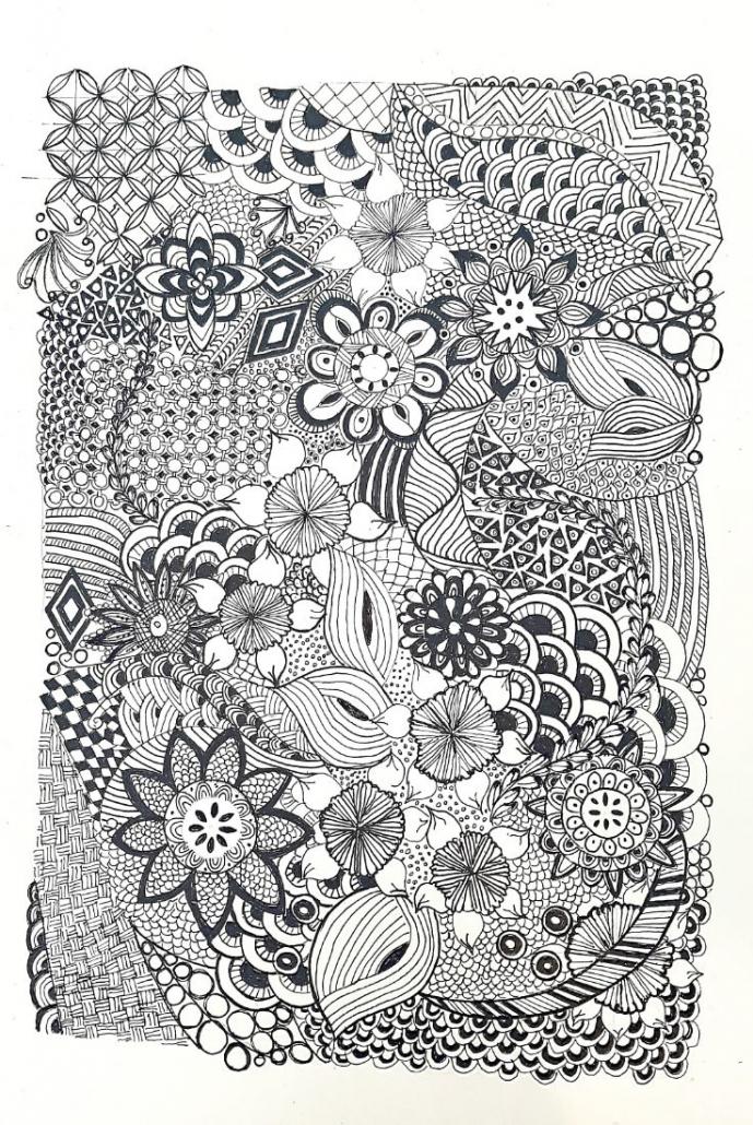 Zentangle von Margitte Fink (Kurs Angelika Hentschel)