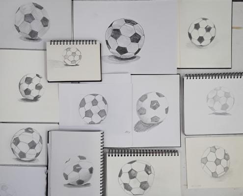 20-Minuten-Zeichnungen, Fussball