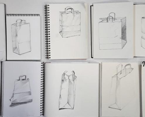 20-Minuten-Zeichnungen, Papiertüte