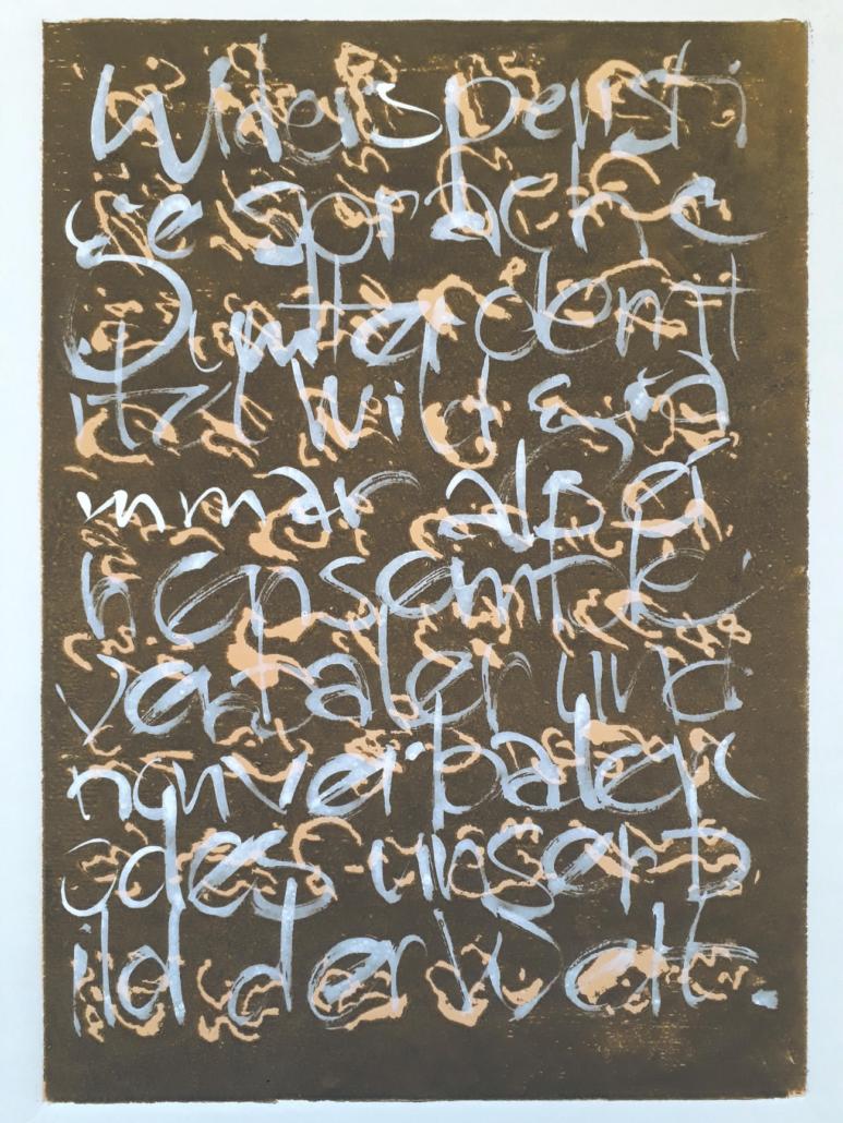 Kunstkurs: Vom Schreiben zum Zeichnen mit Albrecht Weckmann